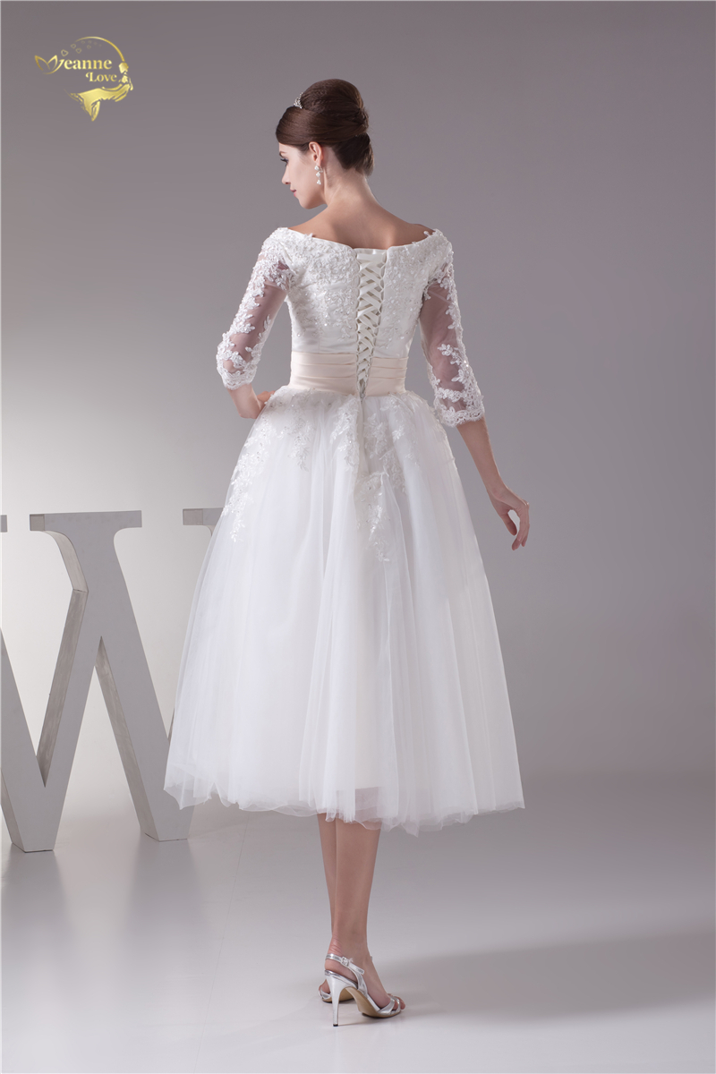 Hot Sale 5dd29 Jeanne Love New Arrival Short A Line Wedding