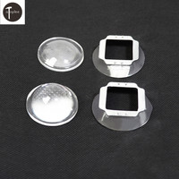 10Set 44mm Optical Glass LED Lens 60 Degree + 50mm Reflector Collimator + Fixed Bracket For 100W High Power LED Chip