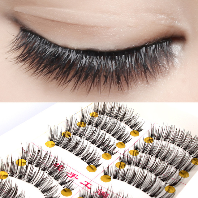 2bb37b9b4b2 Hot 10 Pairs Handmade False Eyelashes False Lashes Soft False Eyelashes  Charming Eyelashes Natural Thick Eyelash #50923