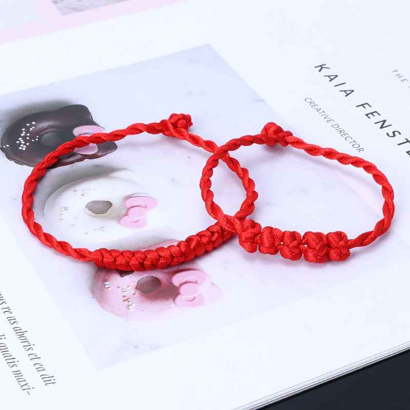 Kabbalah Red String สร้อยข้อมือถักสำหรับโชคดี Against Evil Eye