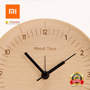 Image 3 - Xiaomi에 대한 시간 알람 시계 천연 나무 미니멀리스트 홈 장식 알람 시계 xiaomi 러시아에서 보내기