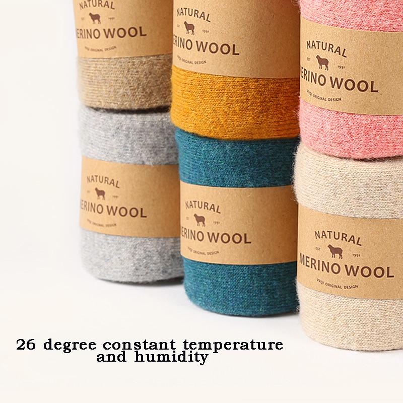 Vvqikawaii Frauen Winter Socken Wolle Warm Halten Verdicken Männer
