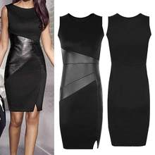 Summer Sexy Women's Dress Office Party Black Bodycon Slim Fit Sheath Pencil Dress(China)