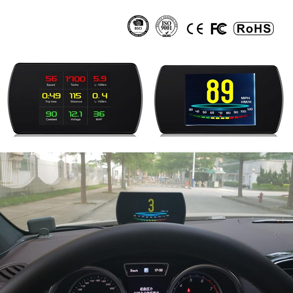 XYCING OBD2 Car HUD Head Up Display Inteligente Medidor Digital HD Display Digital de Consumo de Combustível Temperatura Velocímetro RPM Tacho