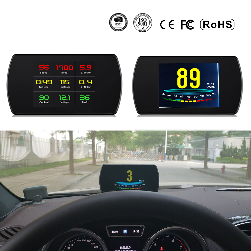 XYCING OBD2 Car HUD Head Up Display Smart Digital Meter HD Digital Display Speedometer Fuel Consumption Temperature RPM Tacho