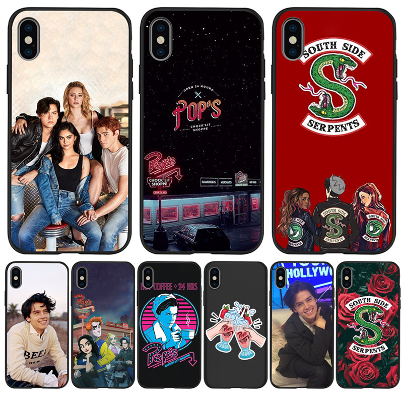Luxury American TV Riverdale Southside For iPhone X XR XS Max 5 5S SE 6 6S 7 8 Plus phone Case Cover Funda Coque Etui capa