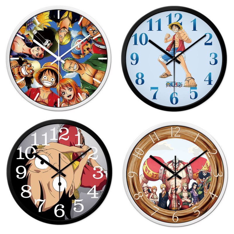Silent Cartoon One Piece Wall Clock Colorful Modern Home Children S Room Decorative Bedroom Kitchen Home Wall Clock Wall Clocks Aliexpress