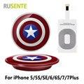 Горячие продаж! Капитан америка щит зарядки площадку ци зарядное устройство + приемник для Iphone для всех 5Pin USB смартфон и т . д .