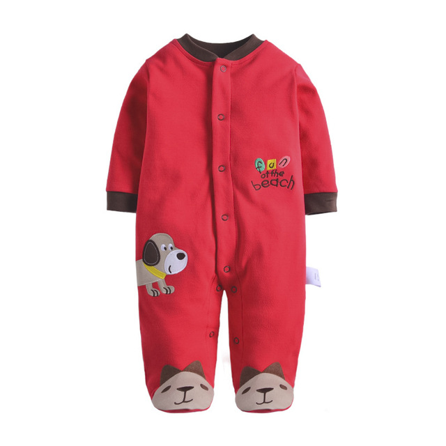 1431e31cb Baby Rompers Cotton Body suits Long Pajamas Romper payifang 1pcs ...