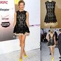 Hot Sale Celebrity Dresses Black Lace Short Mini Prom party Cocktail Dresses party dresses eveving dresses