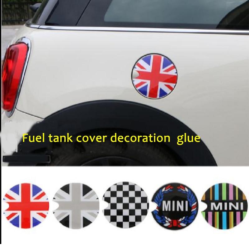Fuel Tank Cap Sticker Oil tank Decals For BMW Mini Cooper S JCW Clubman Countryman R50 R52 R55 R56 R57 R58 R59 R60 R61 F55 F56 sun protection cool hat car logo for mini cooper s r53 r56 r60 f55 f56 r55 f60 clubman countryman roadster paceman car styling