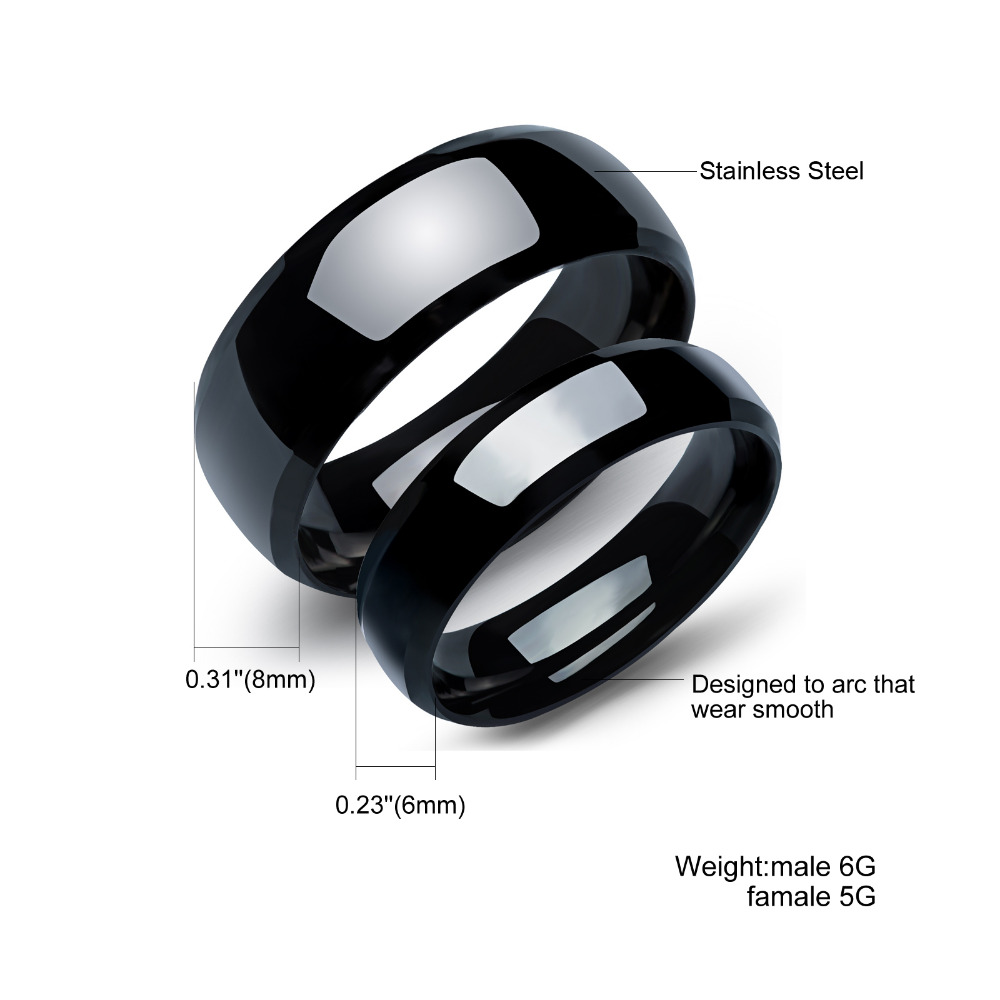 Stainless Steel Couples Rings For Men Women Black Wedding Bands Engagement  Anniversary His And Hers Promise Ty479h From Reliable Steel Vinyl Suppliers  On