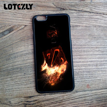 DOTA 2 Fire Logo Soft TPU Moible Phone Case Cover For Apple iPhone 4S 5S SE 6 6S 6Plus 7 7 Plus Hard Plastic Back Skin(China)