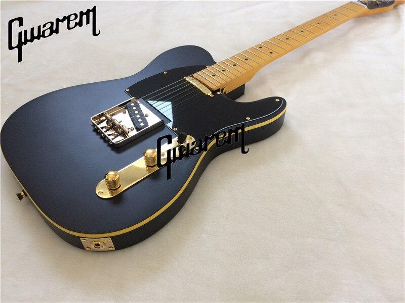 Guitare électrique noir couleur guitare électrique/2017 nouvelle tl bon son de guitare/guitare en chine