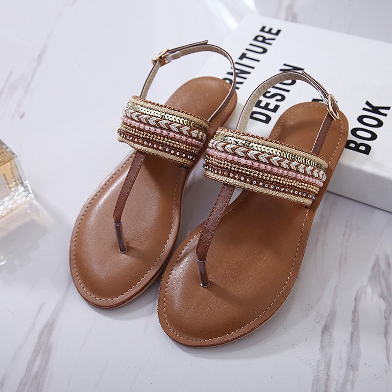 52d0dbf1618a52 Detail Feedback Questions about Women Sandals 2018 Summer Ethnic Bohemian  Woman Pompon Sandals Gladiator Roman Retro Shoes Women Flat Sandals on ...