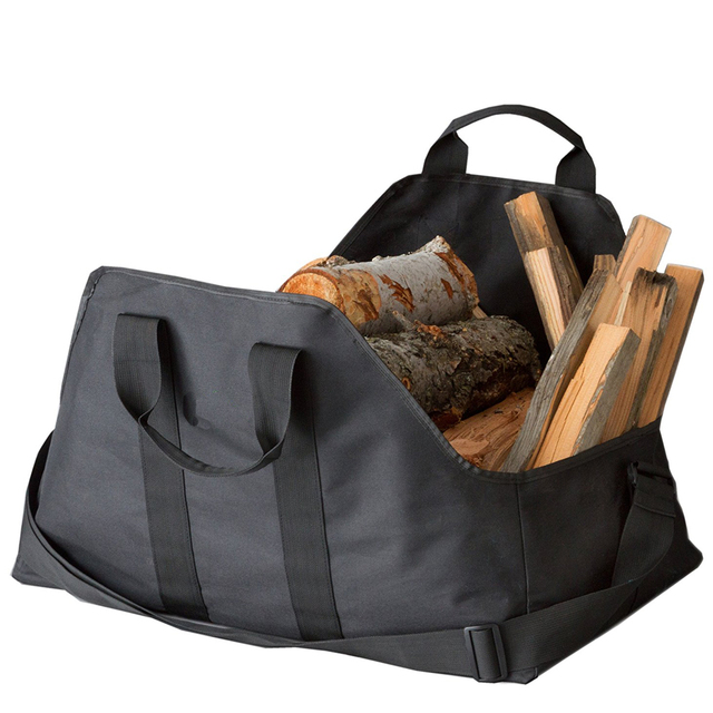 Dropshipping Firewood Log Carrier And Holder Super Durable Canvas Heavyduty  Logging Tote Storage Fire Wood Logs