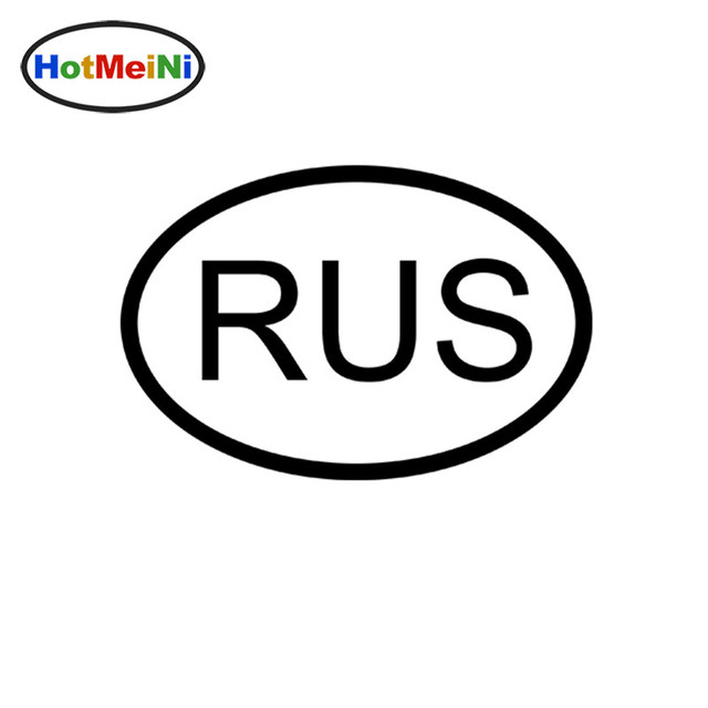 Hotmeini 1510cm rus russia country code oval jdm vinyl sticker lettering car bumper decal
