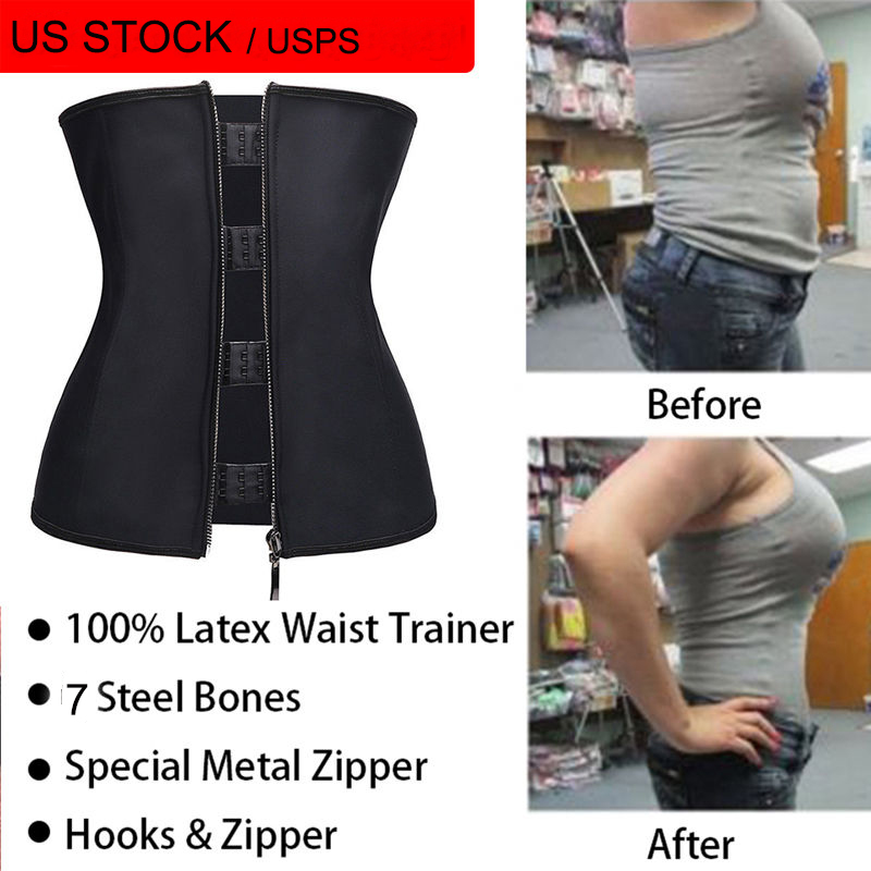 4fbd2c87c2 Miss Moly Hook Zipper Rubber Latex Waist Trainer Sexy Corsets and Bustiers Waist  Cincher Corset Tops Slimming Shapewear-in Waist Cinchers from Underwear ...
