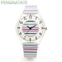 WILLIS Brand Classic Quartz Watches Fashion Women Leisure Watch Waterproof Plastic Strap Wristwatch Girl Clock Watch