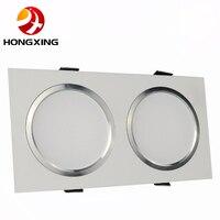 2 Head 7W 9W 12W 15W 18W 30W 40W 110V/220V LED Recessed Ceiling Downlight Square Dimmable LED COB Spot light lamp