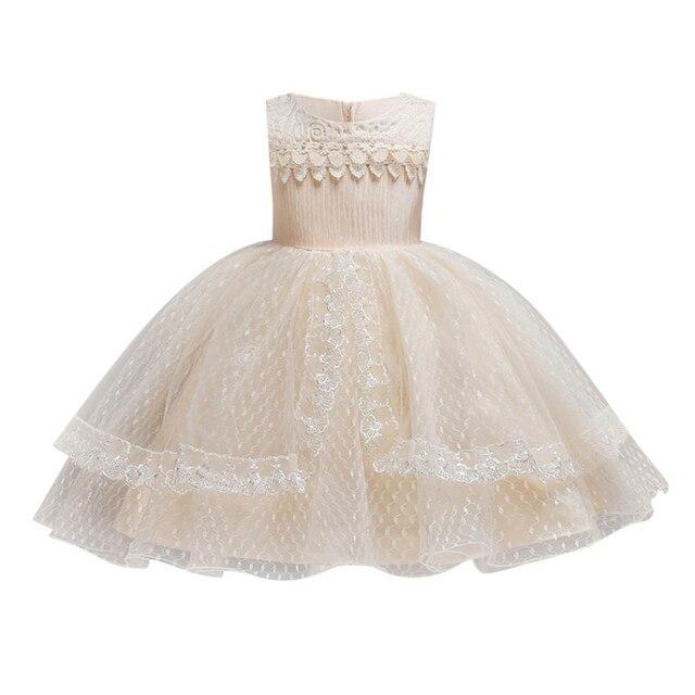 Baby Girls Dress Elegant Bow Girl Wedding Dress Kids Party Dresses For Girls  Costume Children Dreses Formal 677cee5ebf10