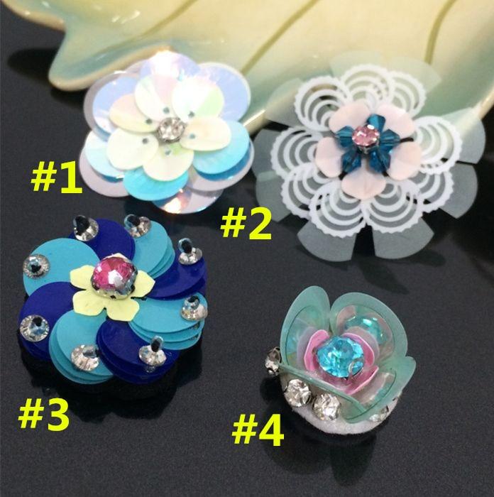 3D handmade color Beads flowers cloth paste decoration women s clothing shoes bag DIY decoration patch decals accessories A947