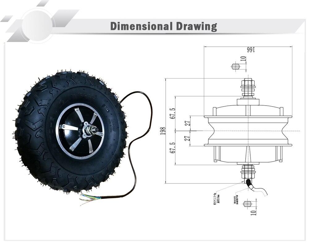 Motor para engrenagem de rodas, motor de engrenagem com rodas elétricas de 14.5 polegadas pro/18 m, cadeira de rodas de carrinho gordo offroad-5