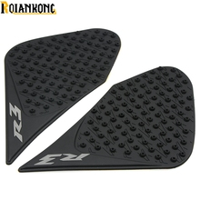 For yamaha yzf R3 R25 2015 -2016 Tank Traction Pad Anti slip 3M sticker Motorcycle Side Decal Gas Knee Grip Protecto logo