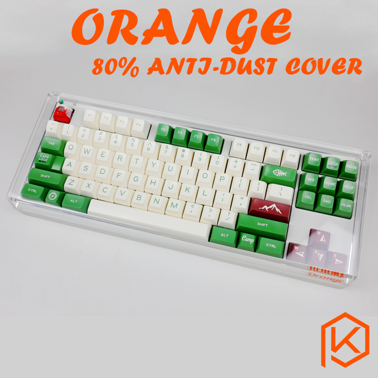 Acrylic Ornage 80 dust cover anti dust guard cap for 80 mechanical keyboard such as 87