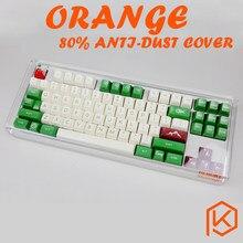 Cubierta protectora de polvo para teclado mecánico 87 tkl wkl 87 xd87 ikbc ducky filtro, color naranja acrílico 80%, antipolvo, 80%