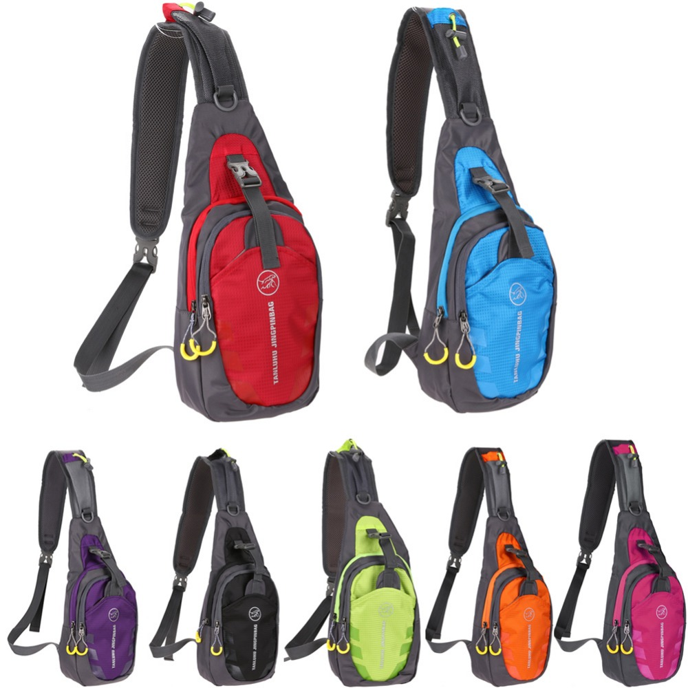 Large Capacity Outdoor Bags Chest Bag Outdoor Sport Travel Shoulder Sling Backpack Pouch for Camping Hiking