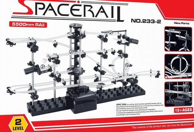 BOHS SpaceRail Espaço Rail Track 233-2 Nível 2 de Mármore de Aço SpaceWarp Roller Coaster NOVO (Sem Caixa de Varejo)