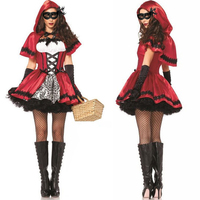 Party Decoration Halloween Costumes for Women Sexy Cosplay Little Red Riding Hood Fantasy Game Uniforms Fancy Dress Outfit