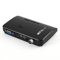 LED MTV Box HD LCD CRT TV BOX AV to VGA RF to VGA External Digital TV Tuner PC BOX Receiver Tuner with Remote Control
