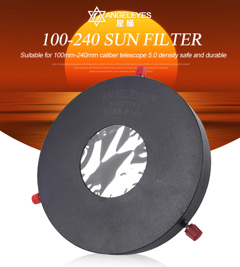 Adjustable 100-240mm Diameter Aperture Astronomical Telescope Solar Filter Baader Filter 5.0 Density Planetarium Bard Film Meade baader planetarium astf 120мм