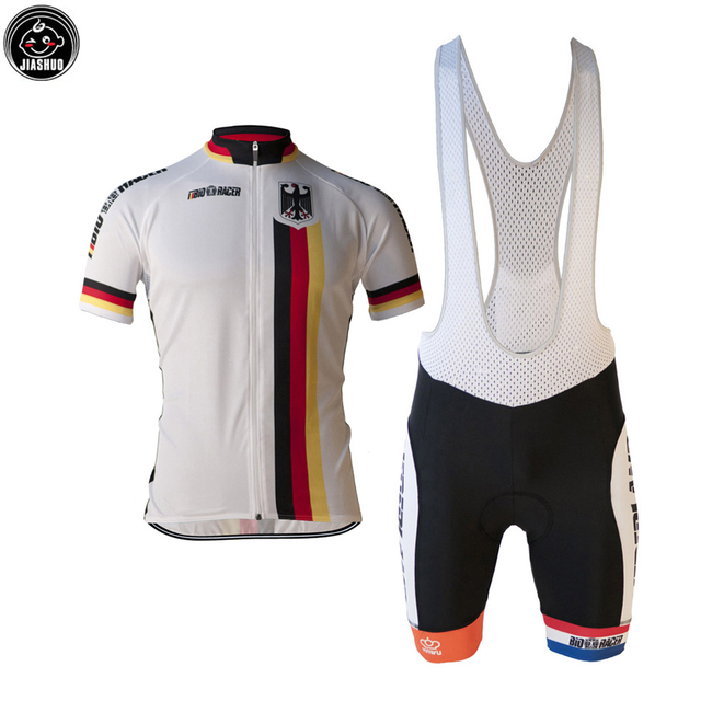 b8a43e086 NEW Classical Germany Deutschland Bike Team Pro Cycling Sets   Jersey   Bib  Shorts Breathable Gel Pad JIASHUO 3 Chooses