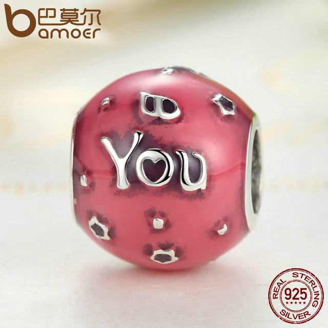 Sterling Silver Birthday Celebration Pink Charm