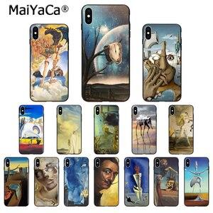 MaiYaCa Salvador Dali Art Silicone TPU Soft black Phone Case for iPhone X XS MAX 6 6s 7 7plus 8 8Plus 5 5S SE XR Cover(China)