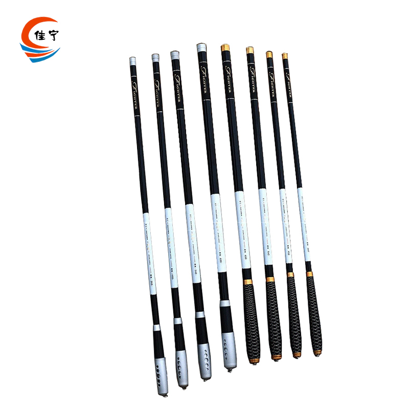 Ultra-light Carbon Fiber Rod Hard Fishing Portable Telescopic Stream Rod Fishing 3.6M,4.5M,5.4M,6.3M,7.2M Fishing Rod Two Handle
