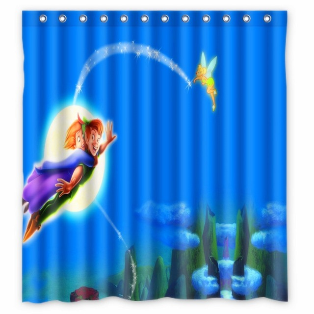 66 X72 Inch Peter Pan Shower Curtain Waterproof Fabric