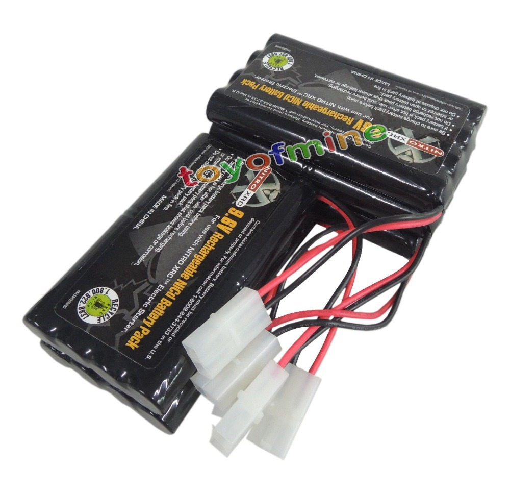5 x 9.6V 1000mAh NiCd Rechargeable Battery Pack RC CAR