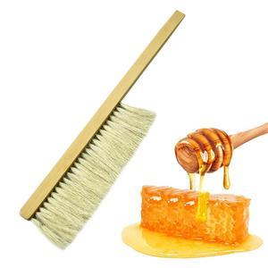 Image 2 - Beekeeping Tools Wood Wasp Sweep Brush Two Rows Of Horse Tail Hair New Bee Brush Beekeeping Equipment