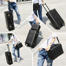 Retro Design High Grade  Strong And Sturdy Trolley Boarding Suitcase Travel Waterproof Rolling  Luggage Spinner Box