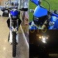 Мотоциклов Байк Двойной Спорт Эндуро Мотокросс Фара Обтекатель для Yamaha YZ TTR XT WR TT Синий Фары 12 В 35 Вт