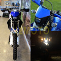 Motocicletas dirt bike dual sport enduro motocross faro carenado para yamaha yz ttr xt wr tt azul faro 12 v 35 w