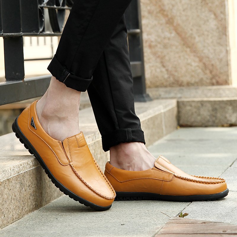 HTB19qBsavvsK1RjSspdq6AZepXa9 Genuine Leather Men Casual Shoes Luxury Brand Mens Loafers Moccasins Breathable Slip on Black Driving Shoes Plus Size 37-47
