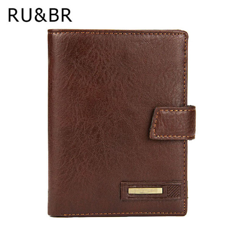 RU&BR Hot Sale Mens Leather Wallet New Fashion Thread Wallets Men Solid Short Purse Male Clutch Card Holder Carteira Coin Pocket 2016 sale special offer carteira feminina carteras mujer mens wallet men driving license genuine leather wallets purse clutch