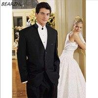 Мужские официальные платья Китайский смокинг жениха для свадьбы 2016 Черный Высококачественный костюм для мужчин 2018