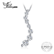 Curved 0.33ct Cubic Zirconia Fashion Pendant 925 Sterling Silver Party Jewelry Accessories Not Include A Chain