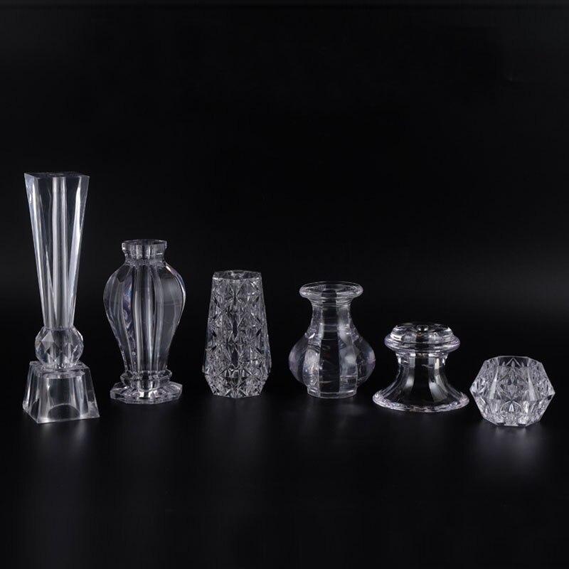 4 Piece Acrylic Crystal Cabinet Glass Tea TV Cabinet Feet Coffee Table Support Legs Furniture Feet
